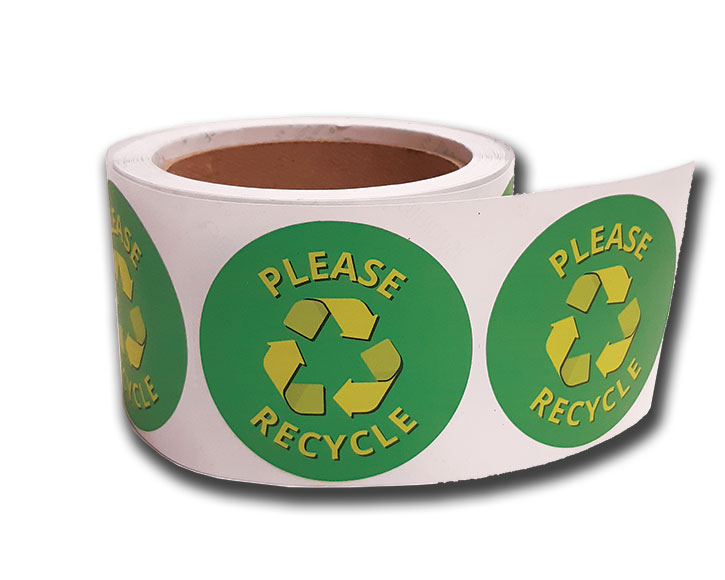 Eco Friendly 100% Recycled Roll Labels